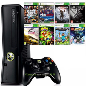 Xbox 360 4 Gb Desbloqueado + 5 Jogos Promoção !!