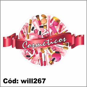Adesivo Beleza Mulher Cosméticos Perfume Will267
