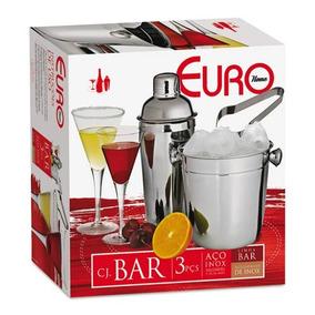 Conjunto De Bar 3 Peças - Euro