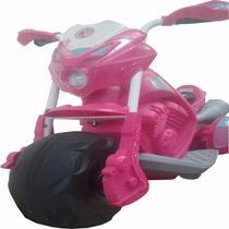 Moto Elétrica Infantil Da Barbie El 6v Trail Bandeirante