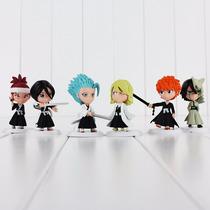 6 Miniaturas Bleach Ichigo Rukia Estatua Action Figure