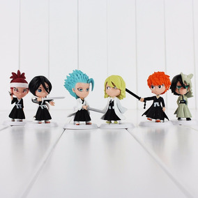 6 Miniaturas Bleach Ichigo Rukia Estatua Action Figure