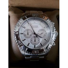 Relógio Guess Masculino Prata - Original Na Caixa -