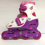 Patines Niña Artistico Lineal Coderas 3 Ruedas Fun For Me