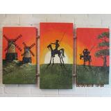 Cuadros De Quijotes, Tripticos, Acrilicos, Enmarcados