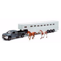 1:32 Traila Caballos Chevrolet Silverado Pickup Remolque Esc