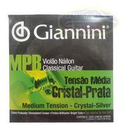 Encordoamento Mpb Nylon Classico Giannini Cristal Prata