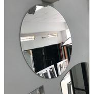 Espejo Baño Living Decoracion  Redondo 40cm Diametro