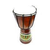 12 \djembe Tambor Bongo Mano Tallado Africano Aboriginal Di