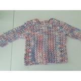 Sweater Bebé De Lana Tejido A Mano. Una Postura