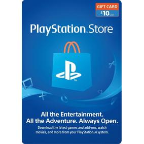 Playstation Network 10 Usd Tarjeta Psn Recarga