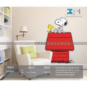 Vinil Decorativo Snoopy, Calcomanía De Pared, Rotulo Sticker