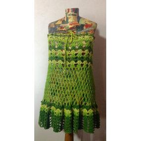 Vestido - Pollera Tejido Crochet - Ideal Playa