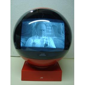 Antiguo Televisor Blanco Negro Jvc Videosphere De Coleccion