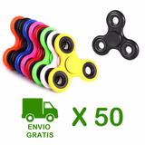 Pack 50 Fidget Spinner Finger Antiestres Metalico / Almayor