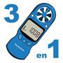 Anemómetro Digital 3 En 1 Viento! Temperatura! Humedad! Lcd!