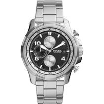 Relógio Fossil Fs5112/1pn Aço Inox Pulseir Aço Cronóg Calend