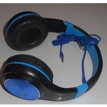 Audifonos Con Diadema Linkbits Con Manos Libres Color Azul