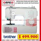 Máquina Familiar Brother Lx 5600i Portatil De Codo