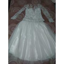 Vestido Conjunto Blanco Dama Niña Xs 15 Años Boda Fiesta