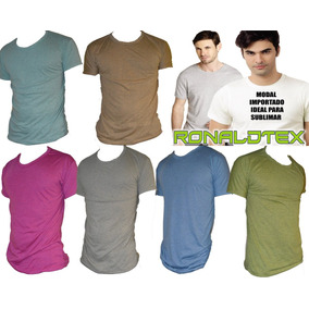 Remeras De Modal Con Lycra Ideal Para Sublimar!!! - S Al Xxl