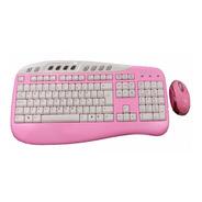 Kit Teclado E Mouse Libra Rosa - Maxxtro Novo