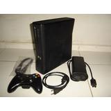 Xbox360 Slim Desbloueado Rgh + Hd 250gb + 1 Controle E Cabos