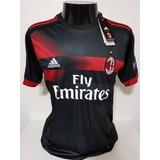 08b0d85962 Camisa Milan 3rd 17-18 Bonucci 19 Patch Europe League Imp