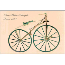 Lienzo Tela Poster Bicicleta Velocípedo Francia 1861 50x75cm