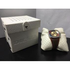 Reloj De Pulso Diesel Caratula Rectangular Extensible Piel