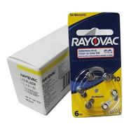 60 Pilas Para Audifono Rayovac Nro. 10 Pr70 1,4v Cinc Aire
