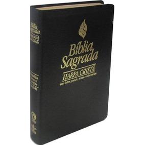 Bíblia Luxo Preta Letra Grande C/ Harpa - Cpad