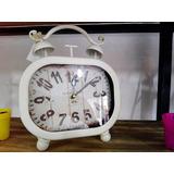 Reloj De Mesa Antiguo Vintage Metal