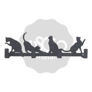 Perchero De Pared Con Gatos