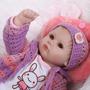 Boneca Bebê Reborn Realista Linda Roupinha Touca Croche