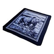 Cobertor King Size Grueso Tipo San Marcos Azul Marino Oso