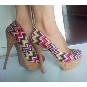 Zapatos Actitud Plataforma Tacón Aguja Talla 37