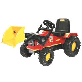 Trator Infantil Com Pedal Farmer Vermelho Com Pá 302 Biemme