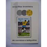 Rb2760 Bloco Selo Novo 1970 Rhm B-28 Gol 1000 Pelé Perfeito