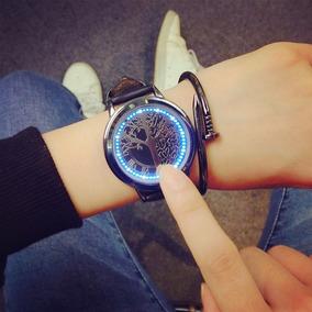 Excelente Reloj Led Touch-luz Caratula Árbol Hombre O Mujer