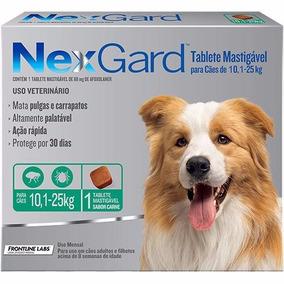 1 Tablete Nexgard Cães 10 A 25 Kg Antipulgas Carrapatos