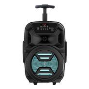 Parlante Karaoke Bluetooth 8w Microfono Con Ruedas Y Manija