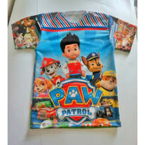 Camisas Para Niños Paw Patrol Guarda Del León Y Mickey Mouse