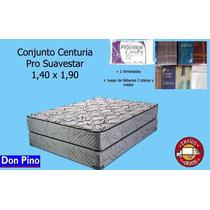 Conjunto Centuria Pro Alta Densidad 35kg 1,40 X 1,90+regalos
