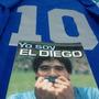 Camiseta Argentina Campeon Mex 86 Número Plateado La Del Gol