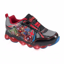 Tenis Niño Cars Luz 14-19 Avengers Spiderman