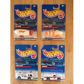 Set 4 Hot Wheels Del 2000 Ambulancia Camión Bombero .