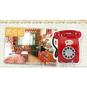 Alcancia Telefono Vintage Rojo