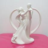 Kit 01 Topo De Bolo Importado Casamento Noivinhos Porcelana