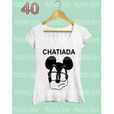 Blusa Tshirt Feminina Estampa Chatiada Mickey Mouse Moda